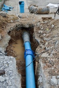 Repair the broken pipe with replace new
